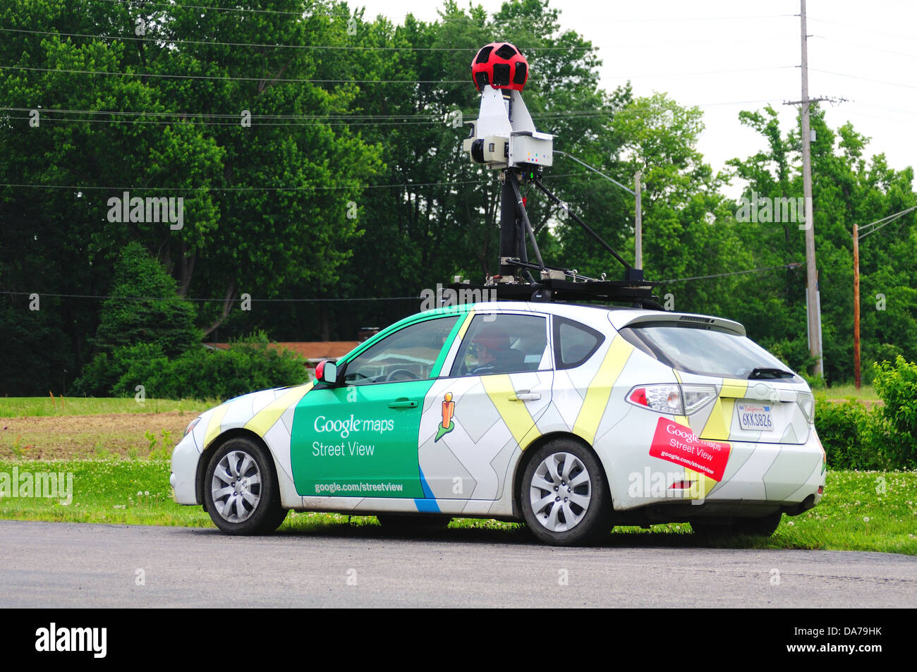 Google Maps Street View camera car - Stock Image