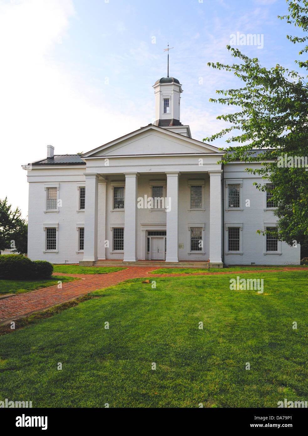 The Vandalia, Illinois, USA State Capitol from 1819-1839 - Stock Image