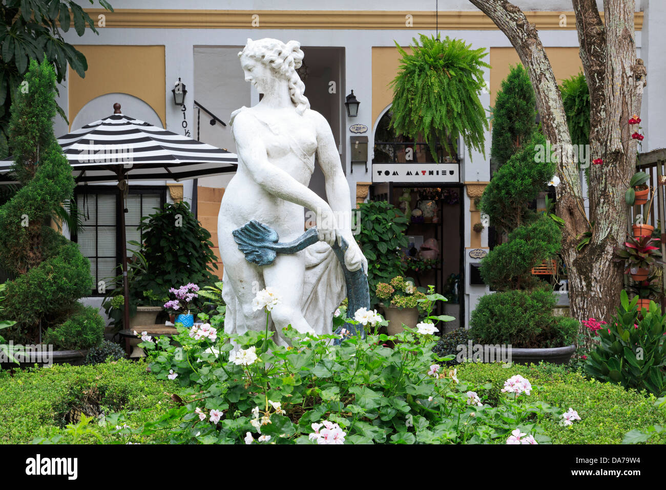 Courtyard on Worth Avenue,Palm Beach,Florida,USA,North America Stock Photo