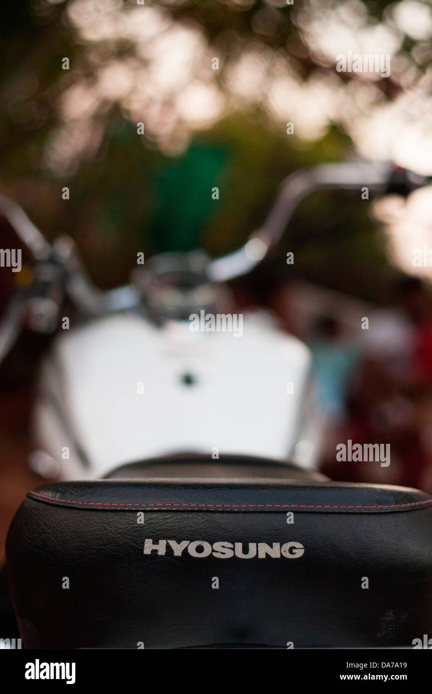 The Hyosung 700cc cruiser bike, one of the more affordable cruisers in India - Stock Image