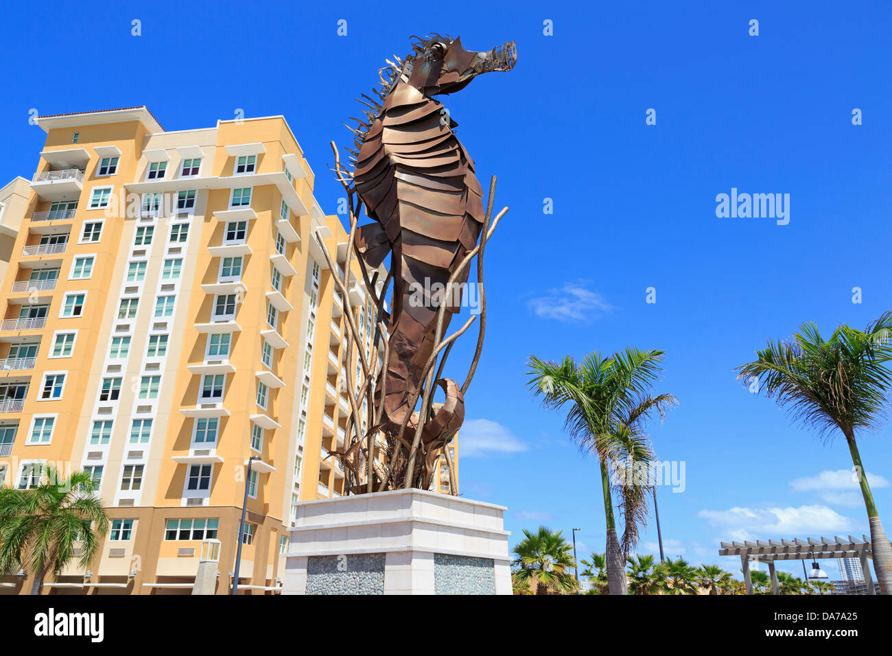 Seahorse by Jose Moralesin Bahia Urbana,San Juan,Puerto Rico,Caribbean - Stock Image