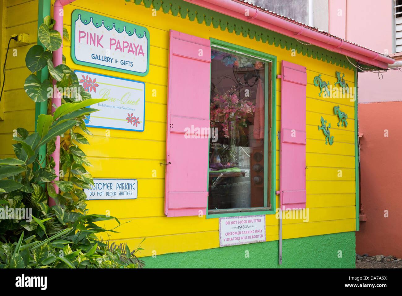 Store in Cruz Bay,St. John,United States Virgin Islands,Caribbean Stock Photo