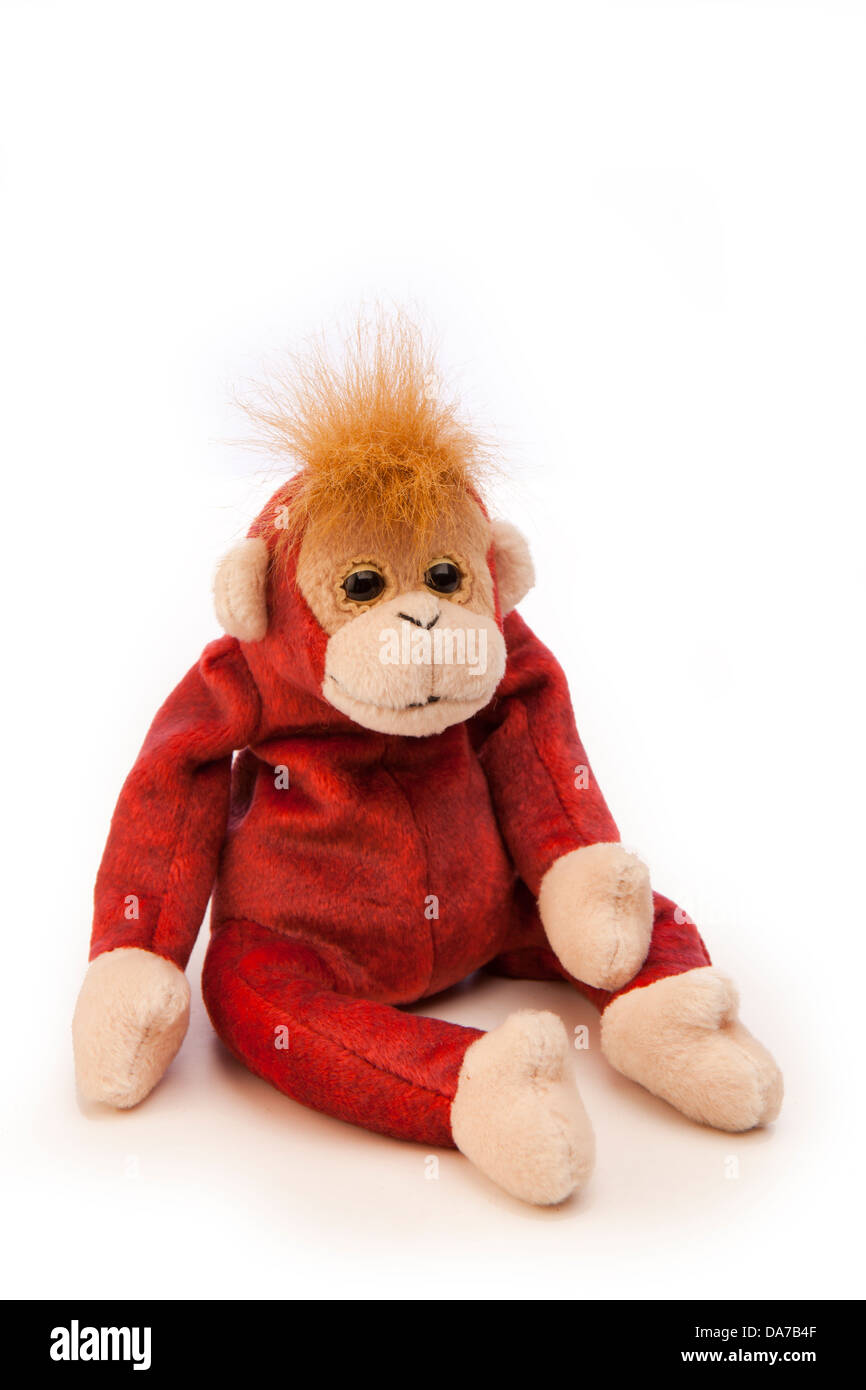 toys, Ty beanie baby babies, Schweetheart the monkey soft toy from 1999 - Stock Image