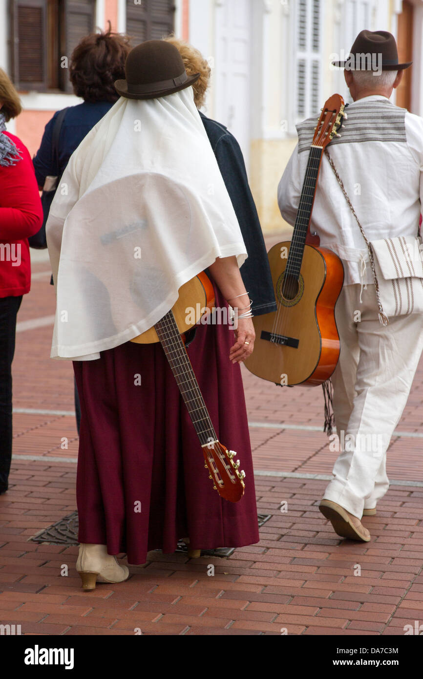 Folk Musicians on Canary Day - Stock Image
