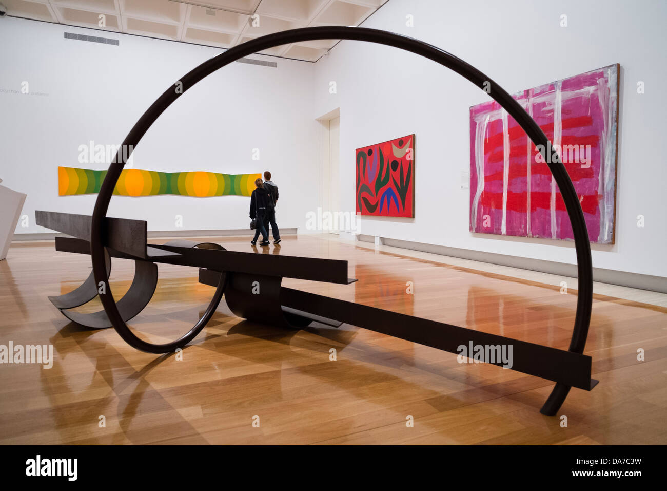 Modern art on display at Queensland Art Gallery on Southbank on Brisbane Queensland Australia - Stock Image
