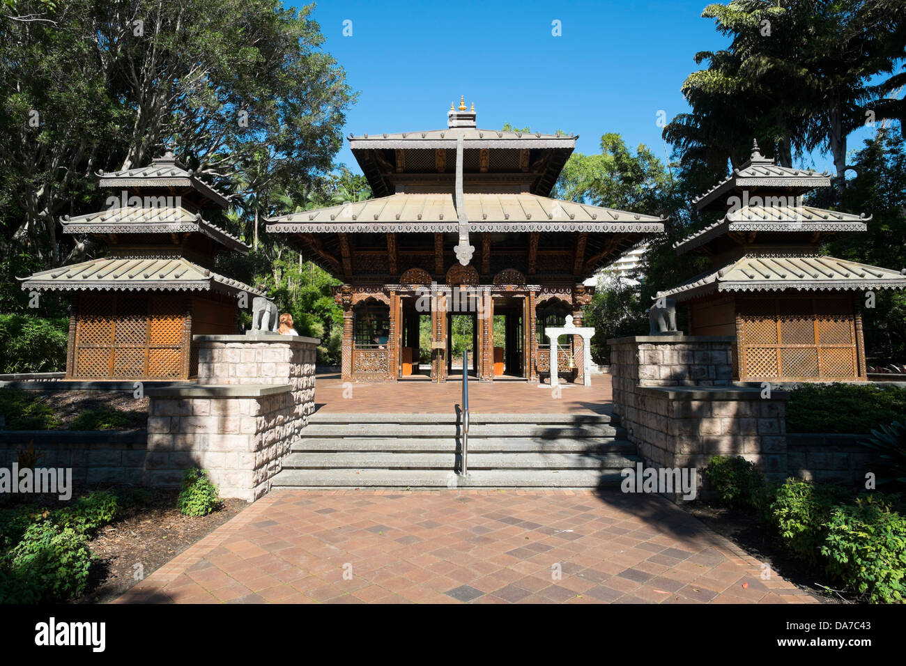 Nepalese Peace Pagoda in Southbank Brisbane Queensland Australia - Stock Image