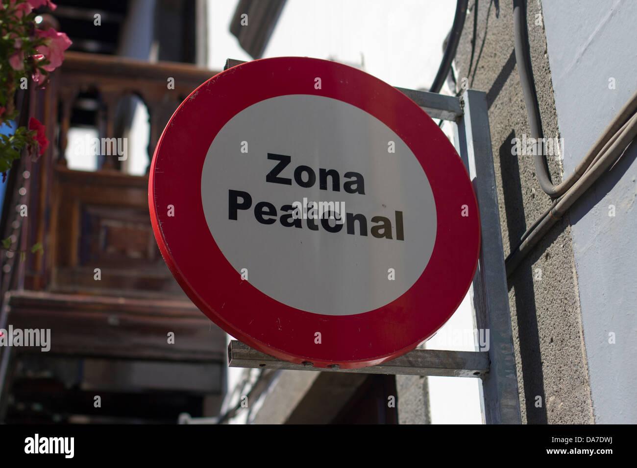 Zona peatonal Stock Photo