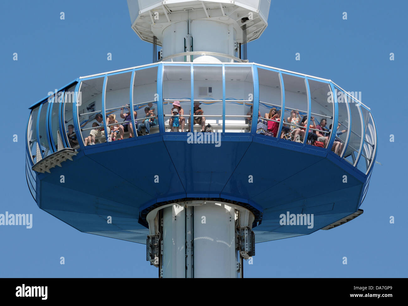 Observation tower, Weymouth Sealife viewing tower, Weymouth, Dorset, Britain, UK - Stock Image