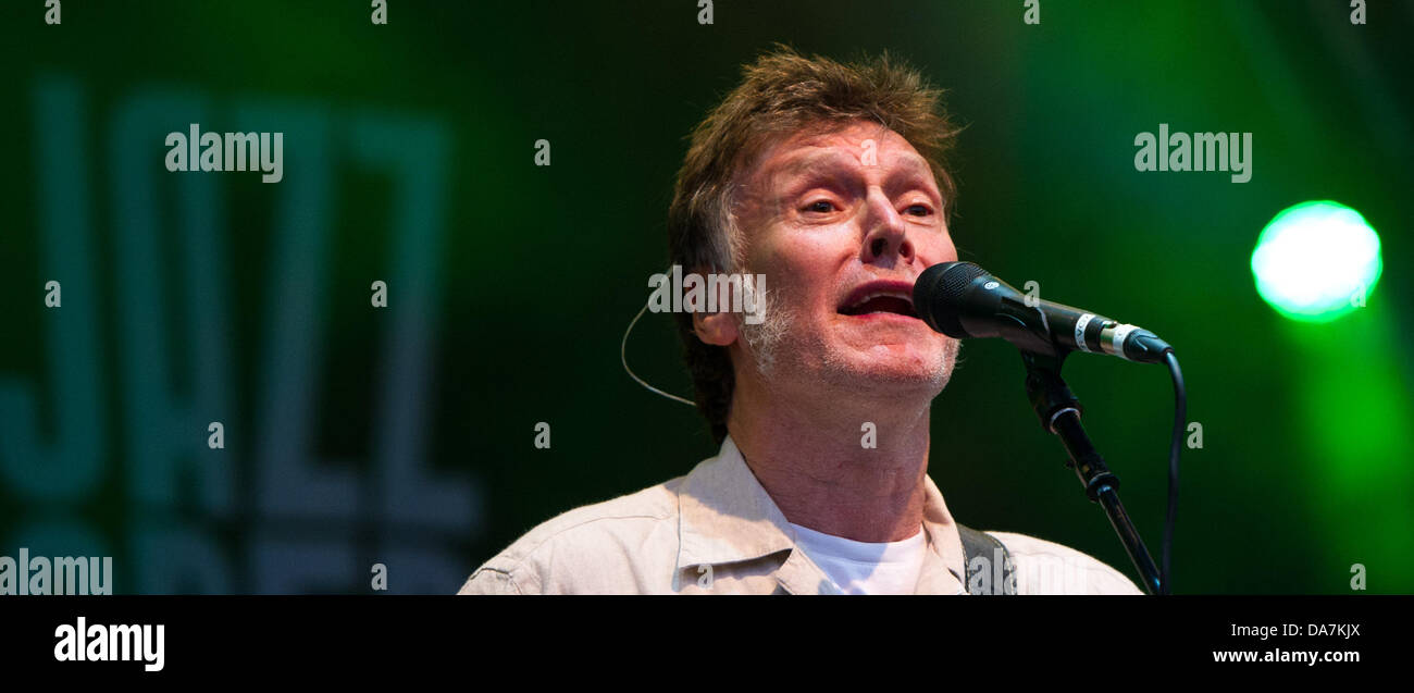 British singer and musician Steve Winwood performs during the 20th Jazzopen at the Schlossplatz in Stuttgart, Germany, - Stock Image