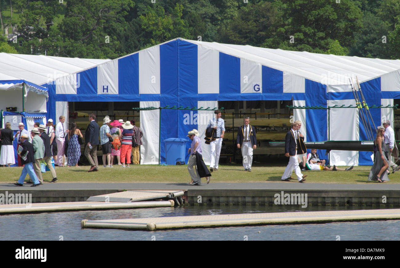 Henley, UK. 6th July, 2013. Henley Royal Regatta River Thames Oxfordshire. - Stock Image