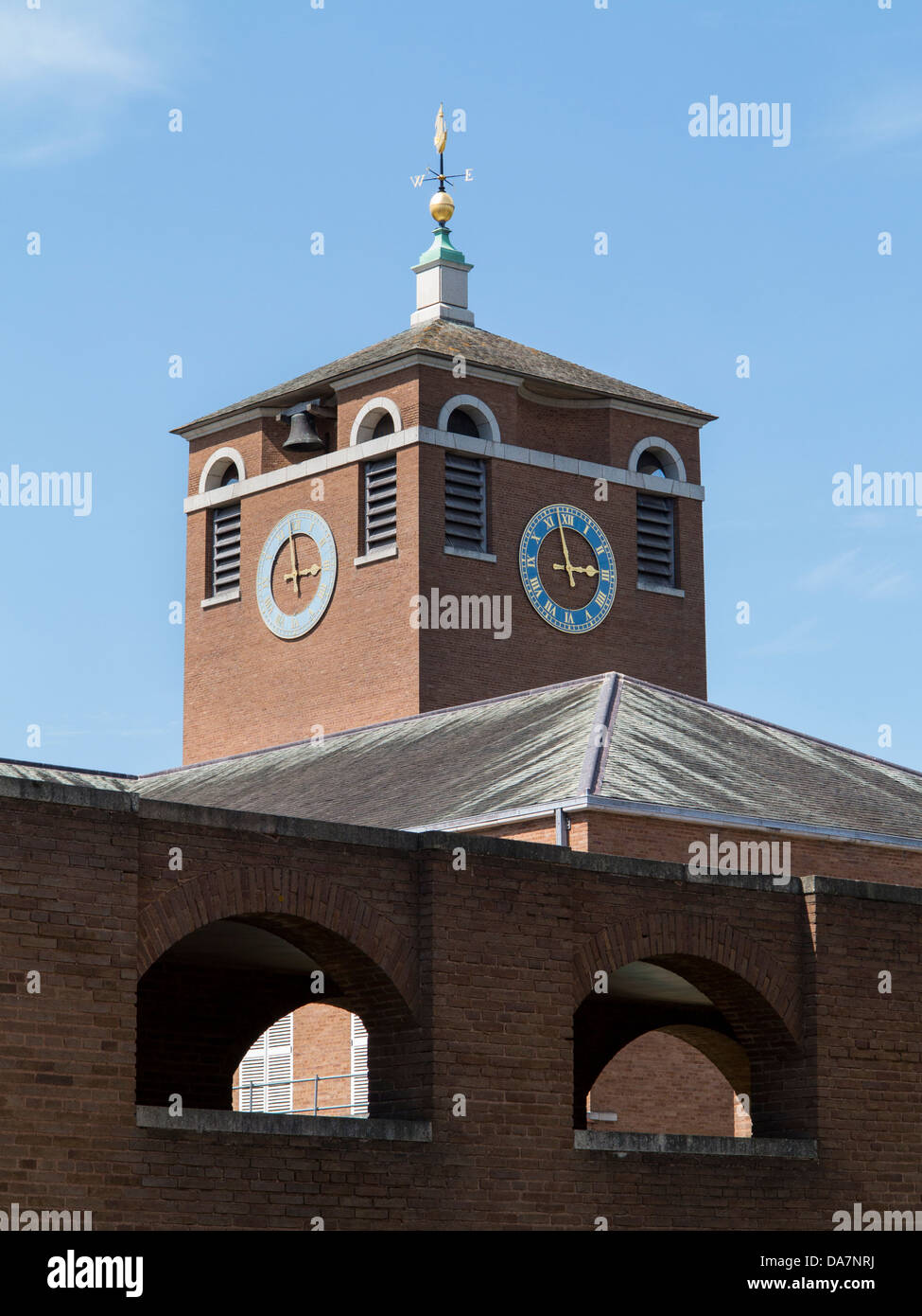 Exeter County Hall clock tower, Exeter, Devon, England. UK. - Stock Image