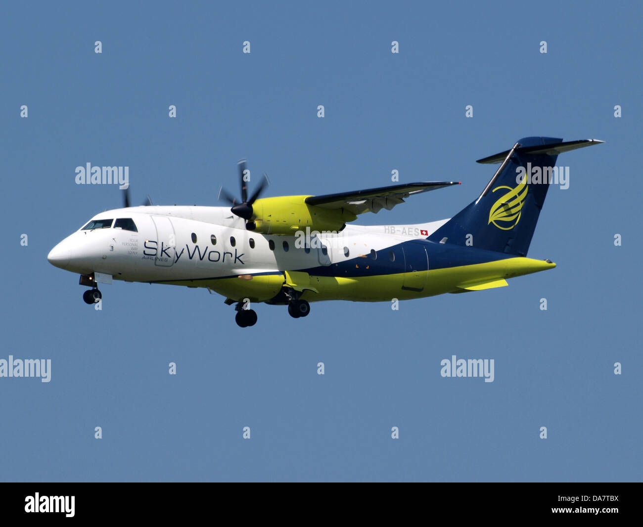 HB-AES SkyWork airlines - Stock Image