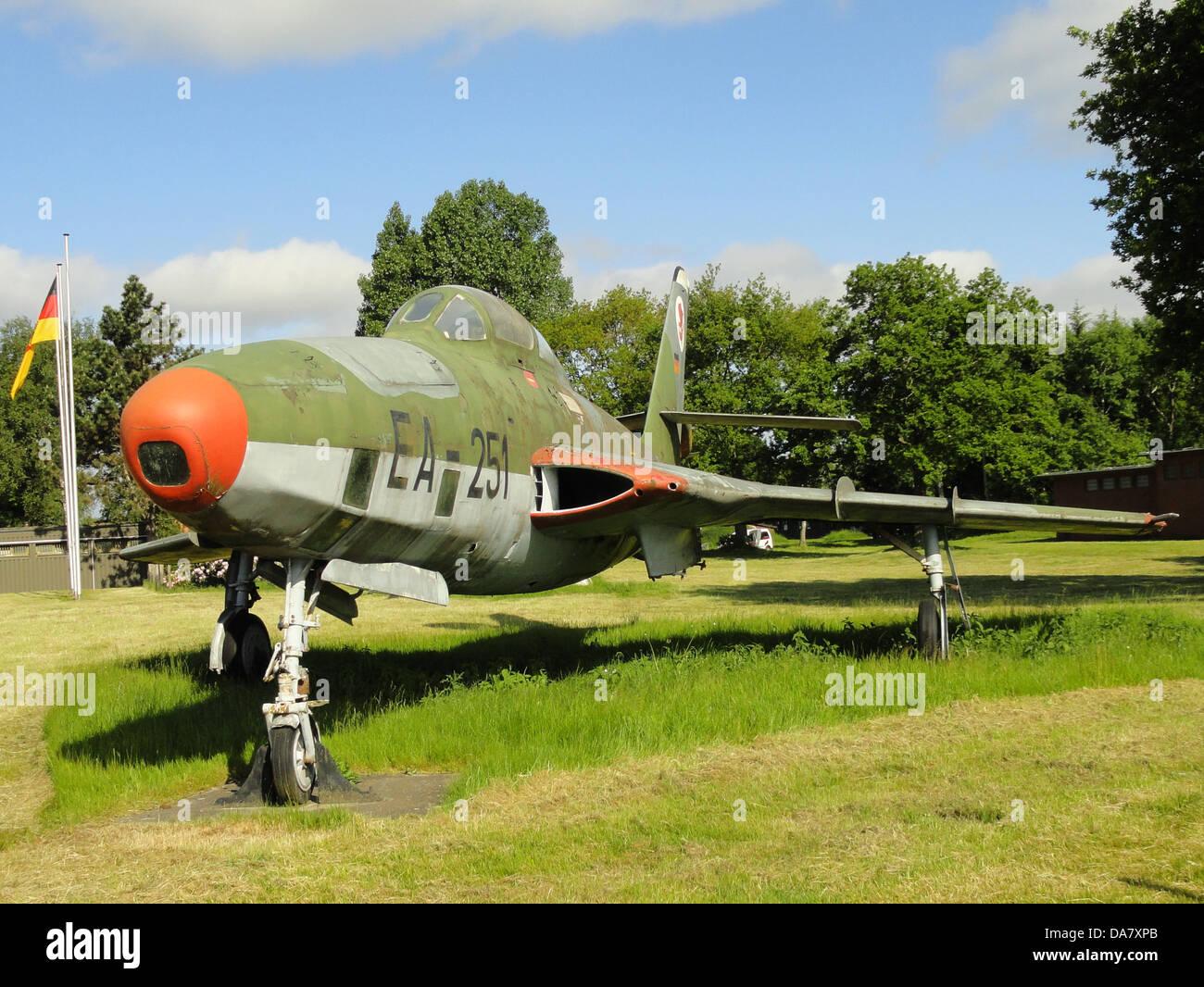 RF-84 F Thunderflash EA-251 at Jagel, 1 - Stock Image