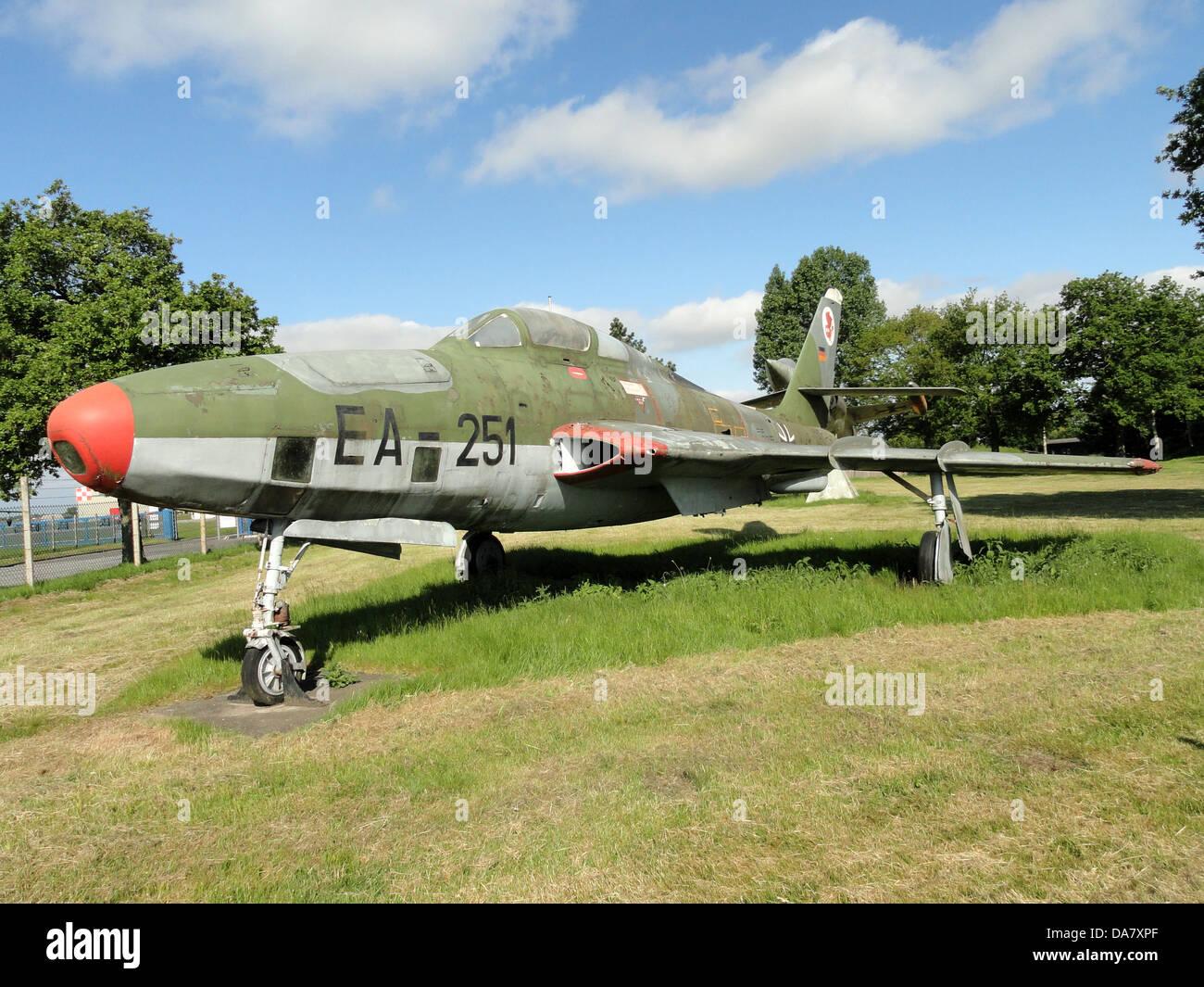 RF-84 F Thunderflash EA-251 at Jagel, 2 - Stock Image