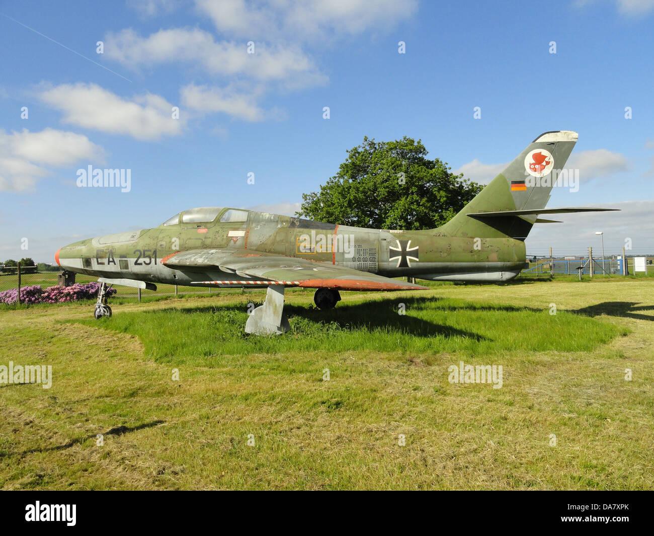 RF-84 F Thunderflash EA-251 at Jagel, 3 - Stock Image