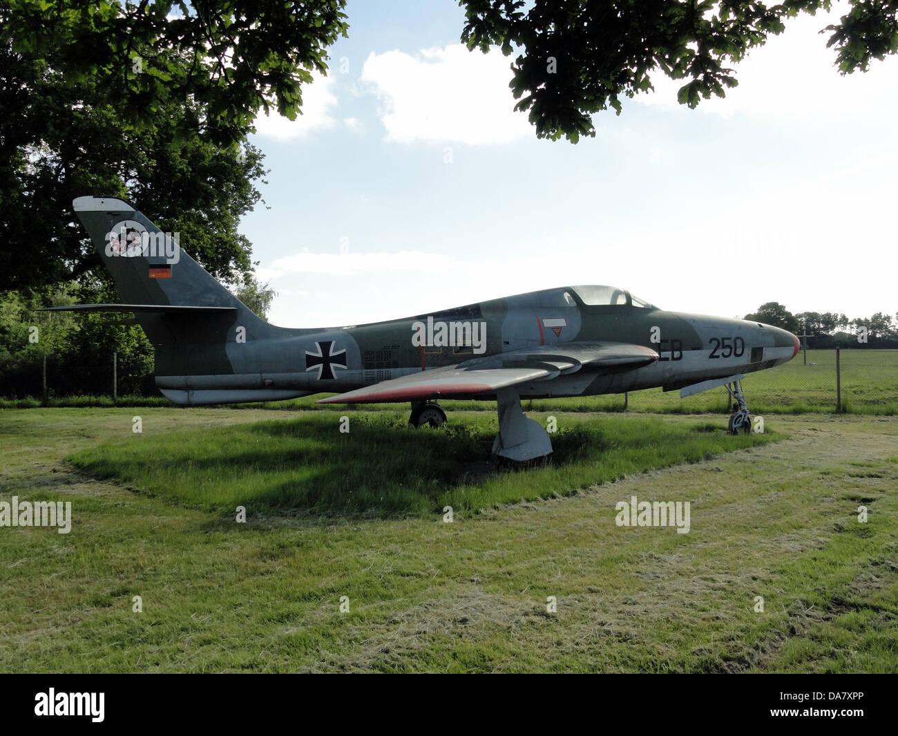RF-84 F Thunderflash EB-250 at Jagel, 2 - Stock Image