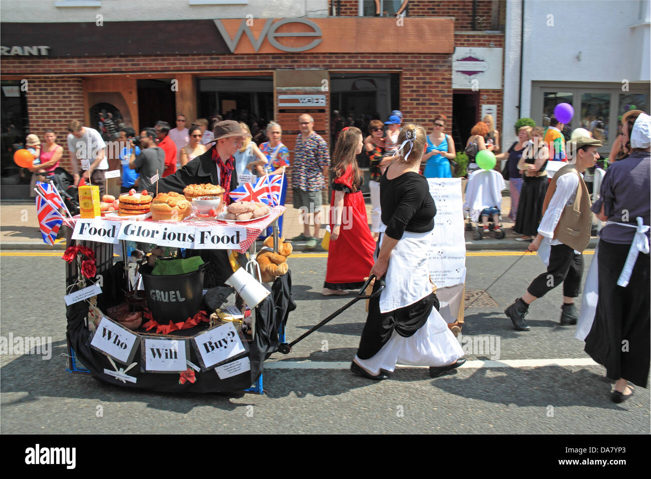 Oliver, 'Musicals' themed Grand Procession, Fleet & District Carnival, 6th June 2013. Fleet, Hampshire, - Stock Image