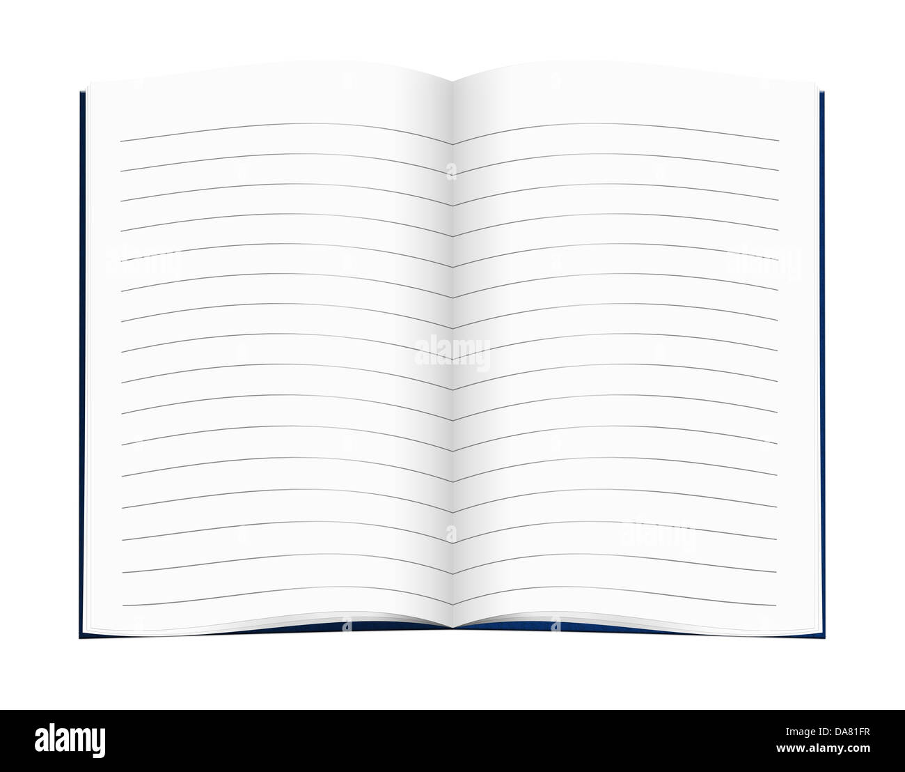 Lined exercise book, copybook, blue - Stock Image