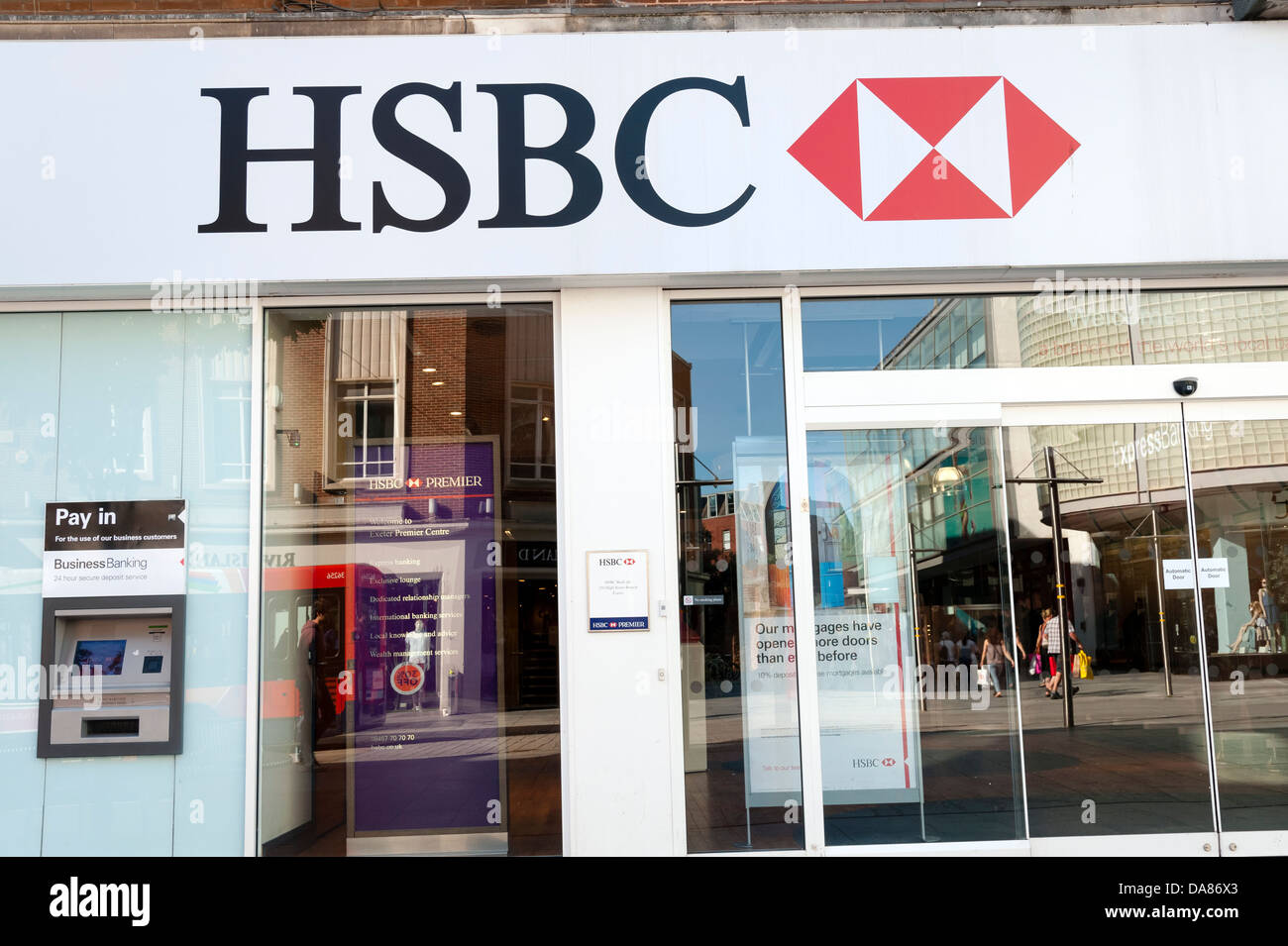 HSBC bank, Exeter, Devon, UK Stock Photo: 57958715 - Alamy