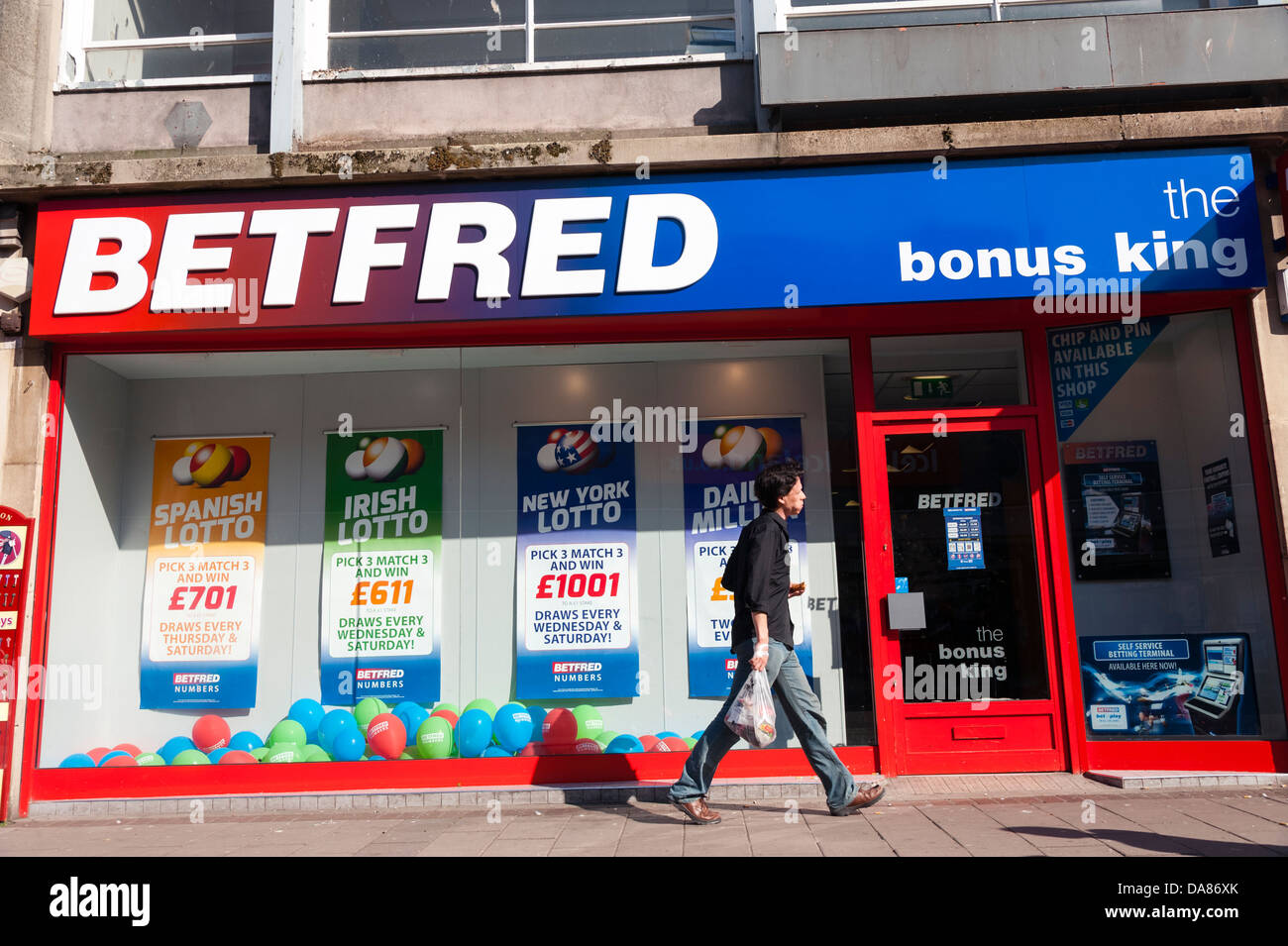Bet Fred bookmakers,UK. - Stock Image