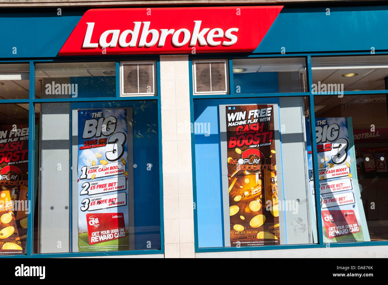 Ladbrokes bookmakers, UK. - Stock Image