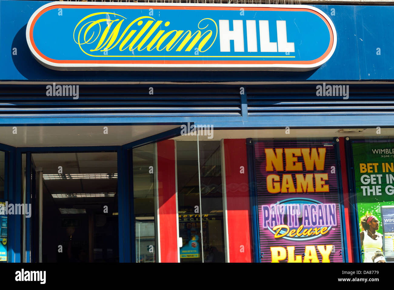 William Hill bookmakers, UK. - Stock Image