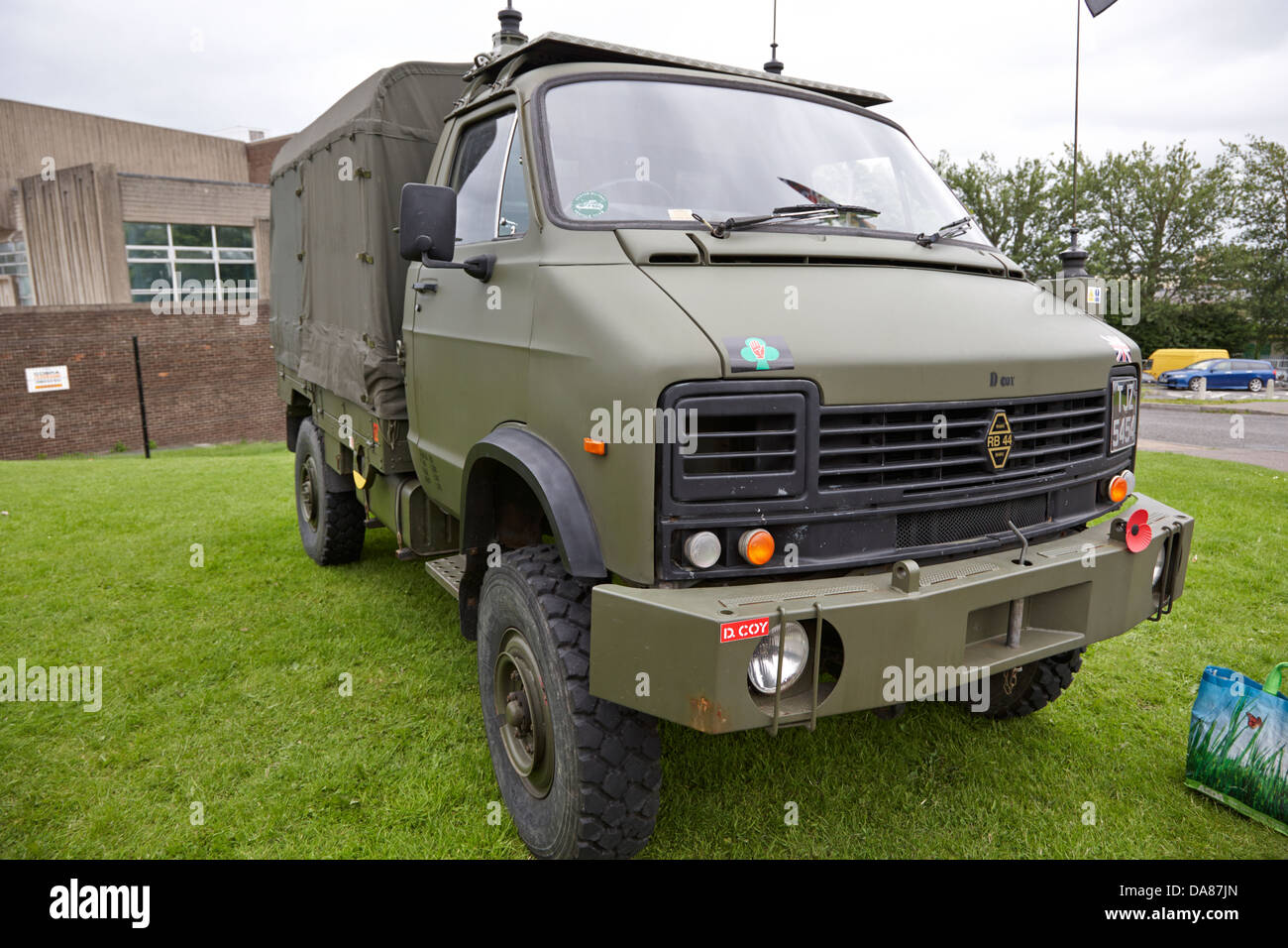 rb44 heavy duty utility truck british army military vehicle on display county down northern ireland uk - Stock Image