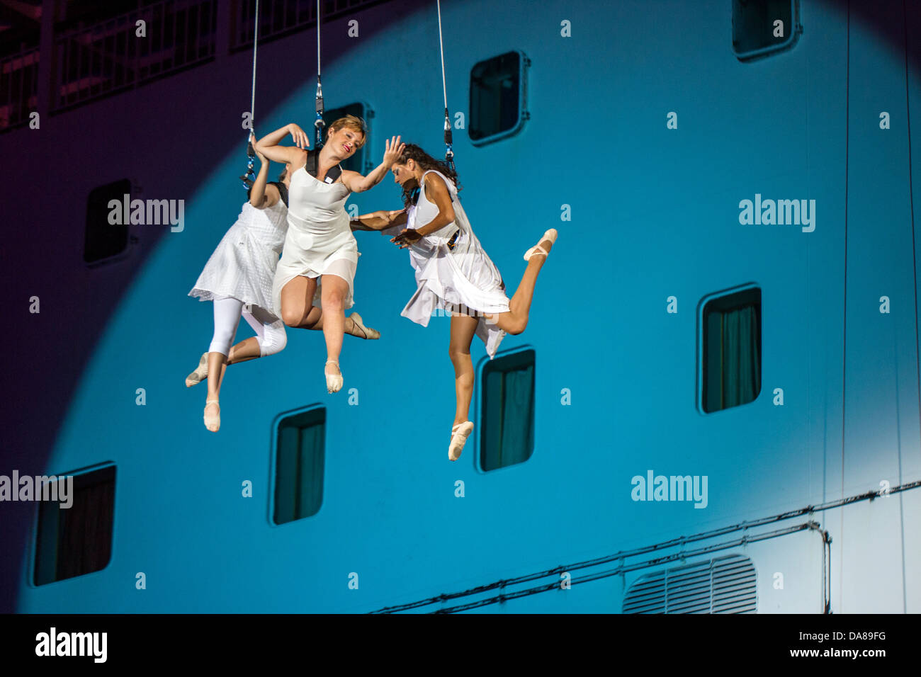 Dancers performing in the air Stock Photo