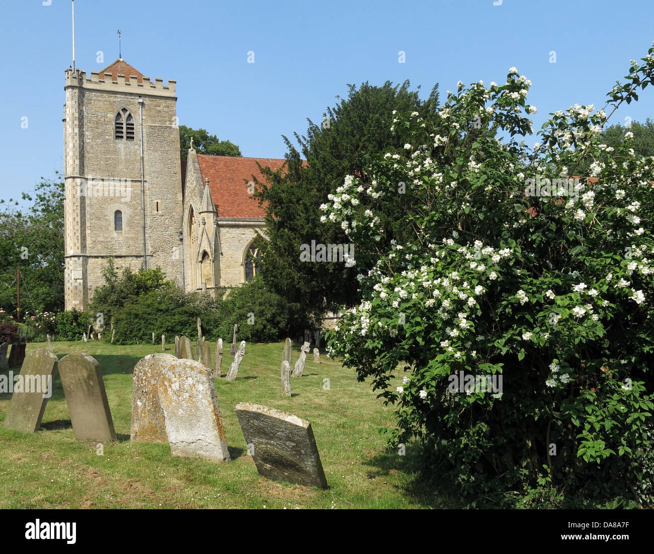 Beautiful Dorchester On Thames Abbey Church of St Peter & St Paul - Stock Image