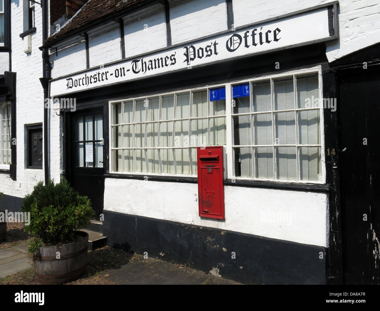 The historic Dorchester on Thames England UK post office - Stock Image