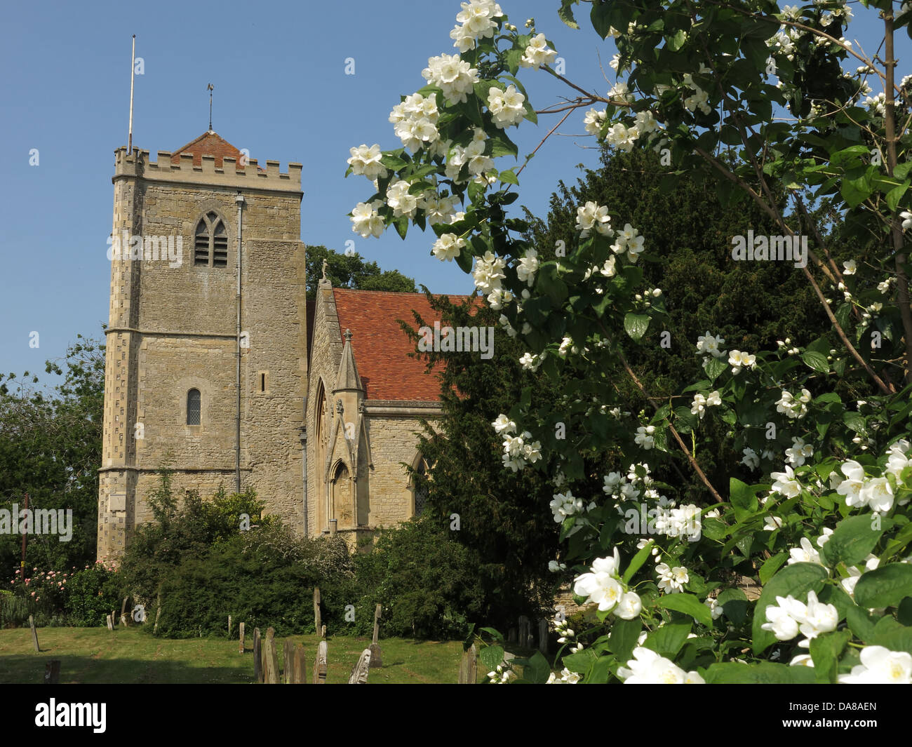 Beautiful Dorchester On Thames Abbey Church of St Peter & St Paul in summer - Stock Image