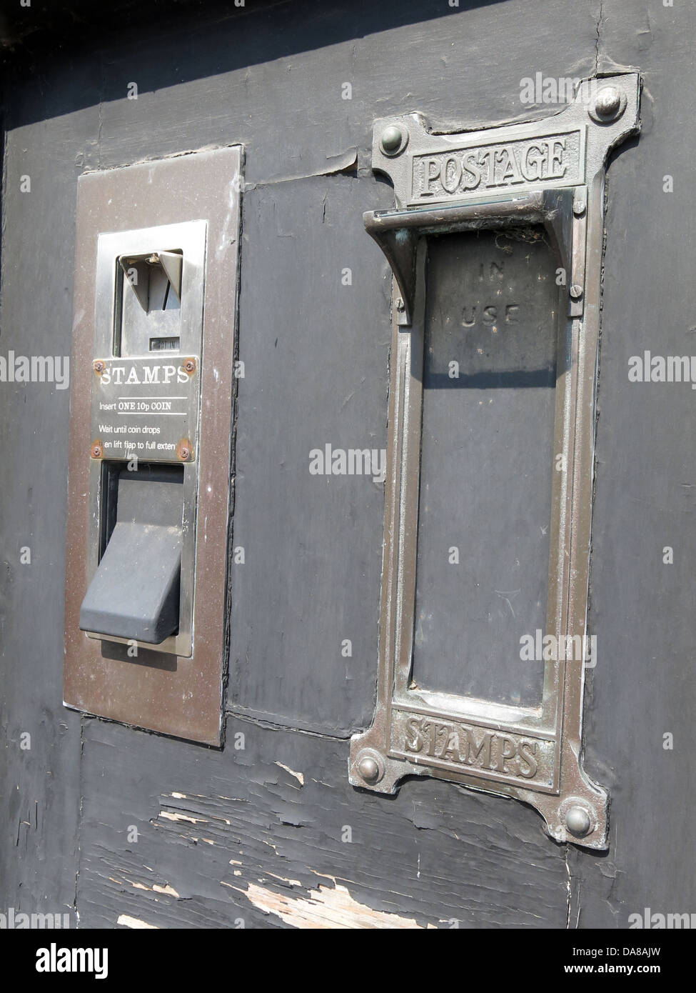 Royal Mail, Post Office Stamp machine, Manchester, North West England, UK - Stock Image