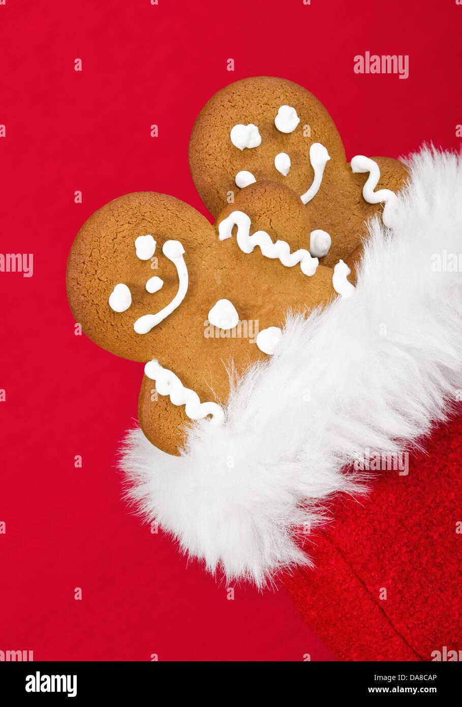 Christmas Gift Bag Homemade Gingerbread Stock Photos & Christmas ...