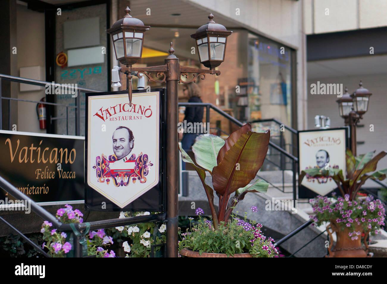 Yorkville, Toronto, Vaticano Restaurant - Stock Image