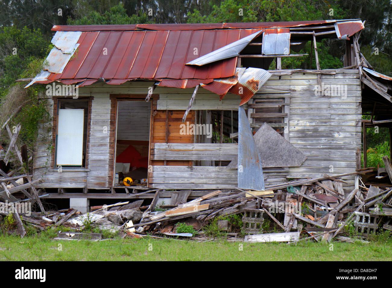 Florida Venus House Wood Frame Damaged Abandoned Falling Apart Vacant  Dilapidated Eye Sore