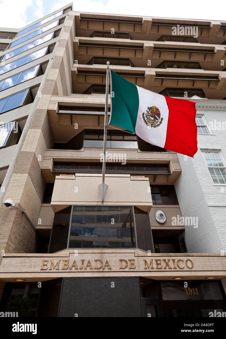 Embassy of Mexico  - Washington, DC USA - Stock Image