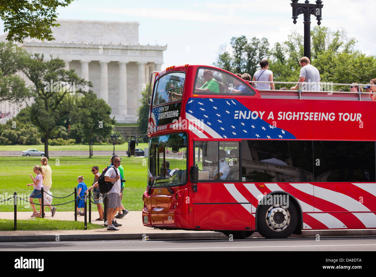 Washington Dc Tour Bus >> Open Top Tour Bus Washington Dc Usa Stock Photo 57964154