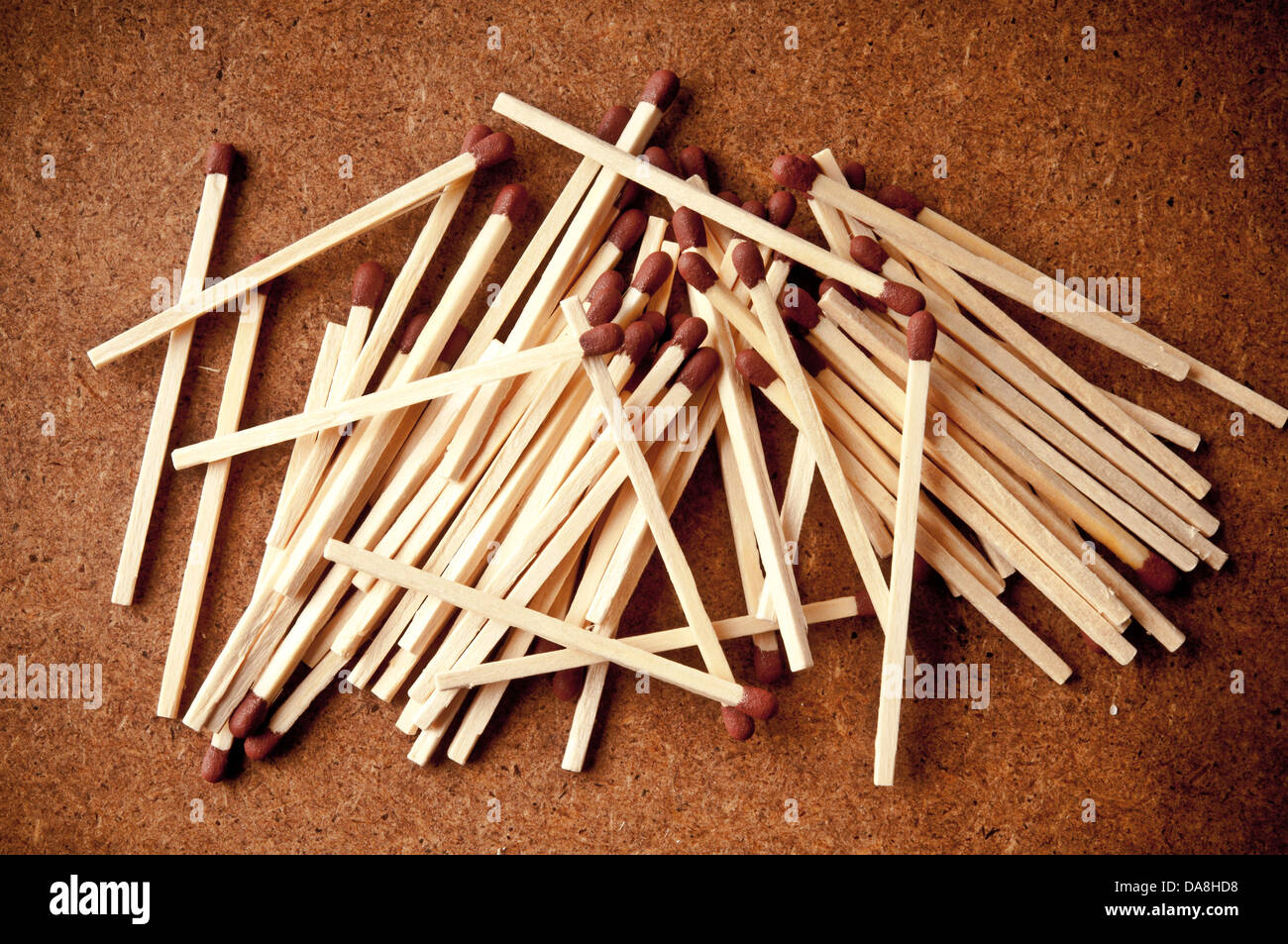 bunch of matches - Stock Image