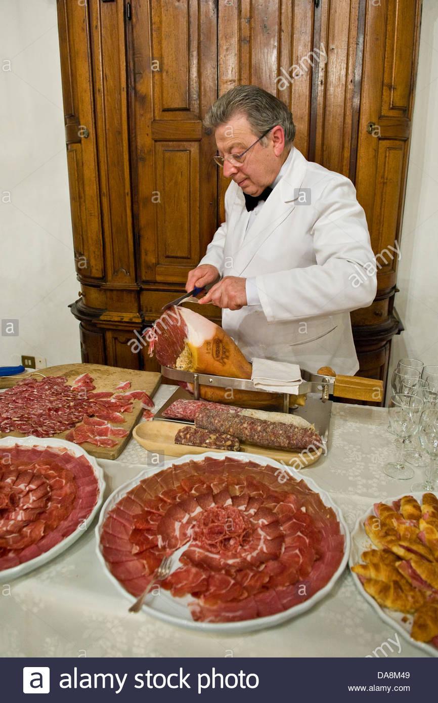 Parma Ham,Somma Lombardo,Lombardy,Italy - Stock Image