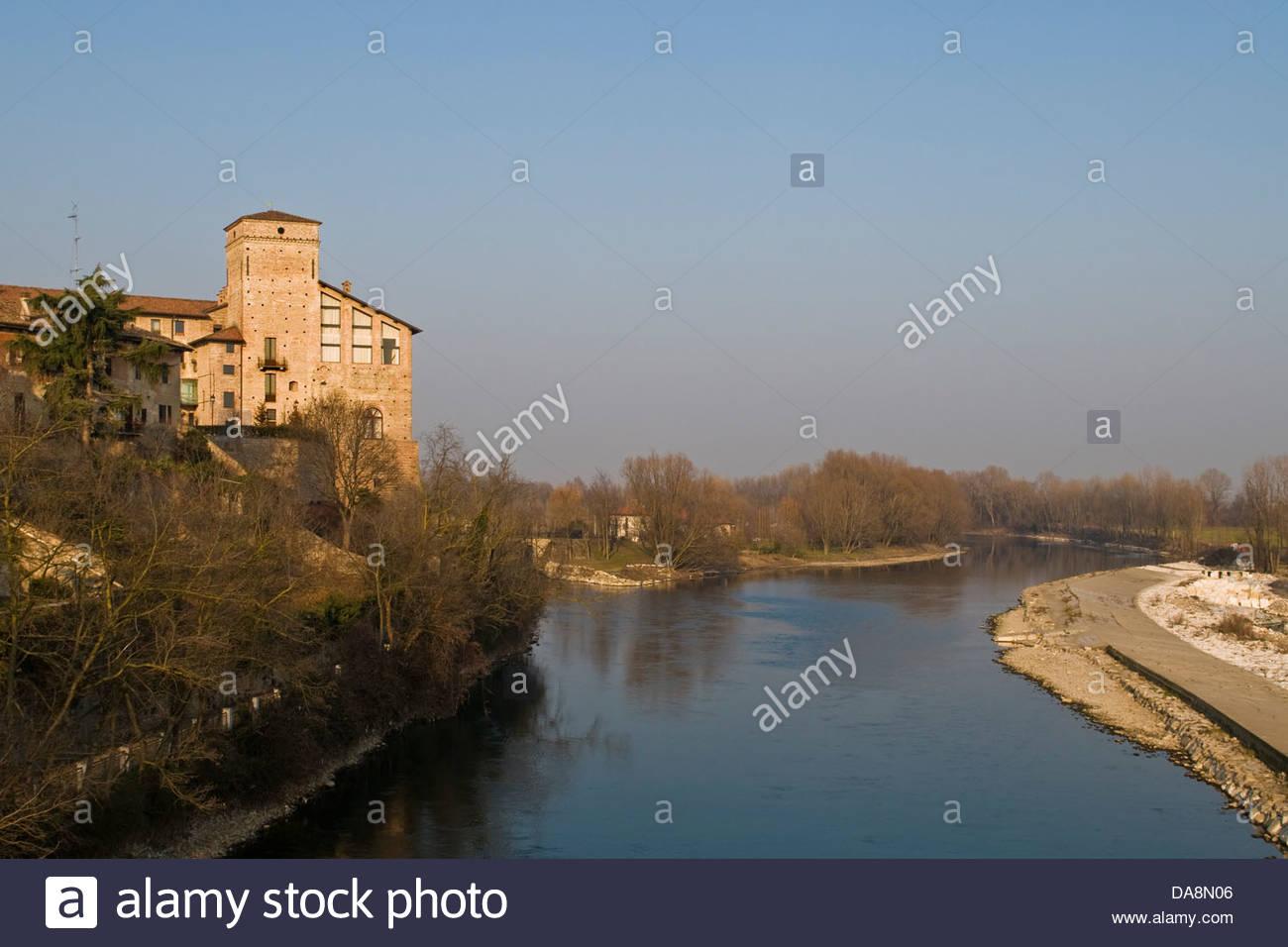 Borromeo castle,Cassano d'Adda,Lombardy,Italy Stock Photo