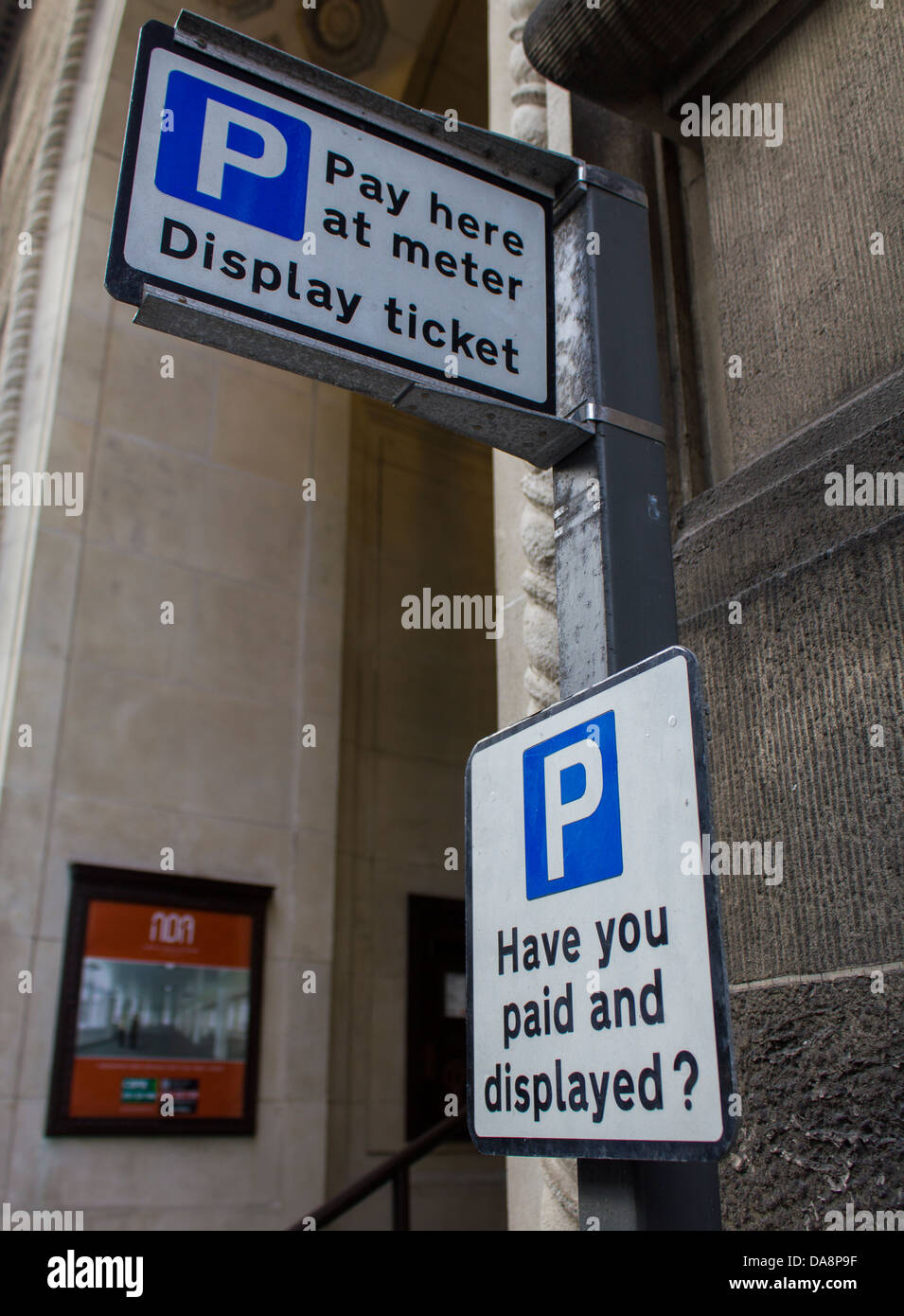 Pay and Display meter, Liverpool, England - Stock Image