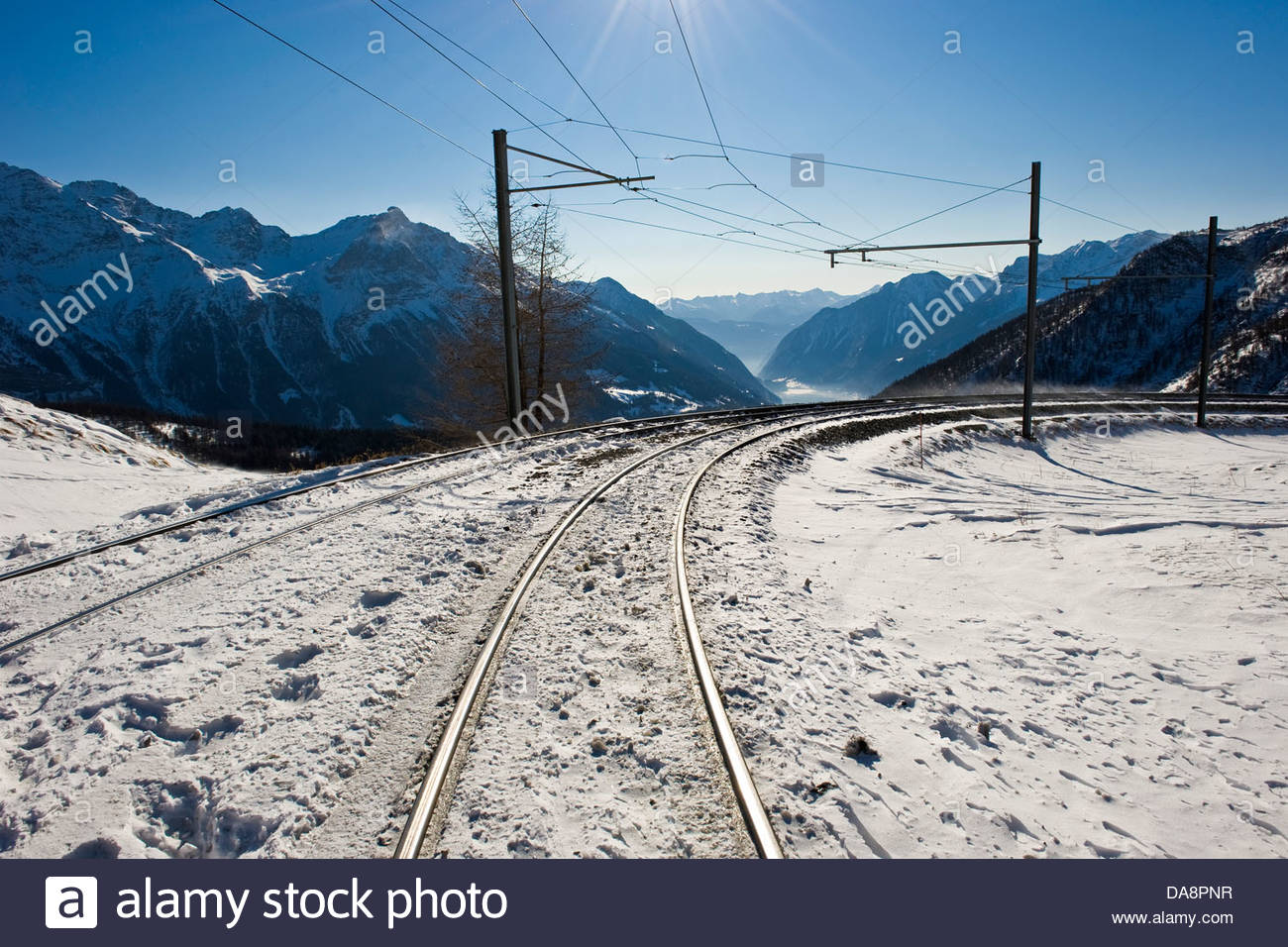 Alp Grum,Bernina express,Switzerland - Stock Image