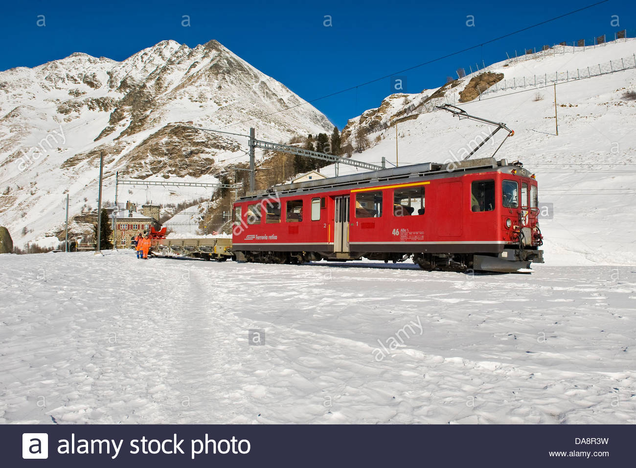 Alp Grum,Bernina express,Switzerland Stock Photo