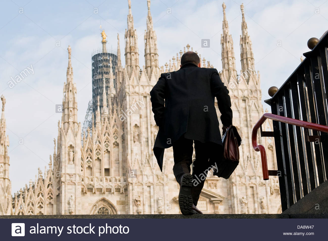 Managers with the briefcase,Duomo square,Milan,Italy - Stock Image