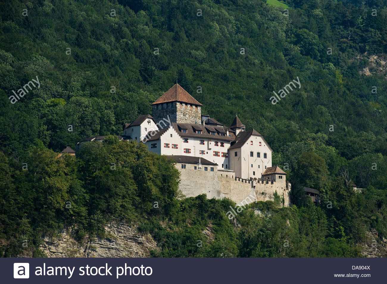 Liechtenstein,Vaduz,castle - Stock Image