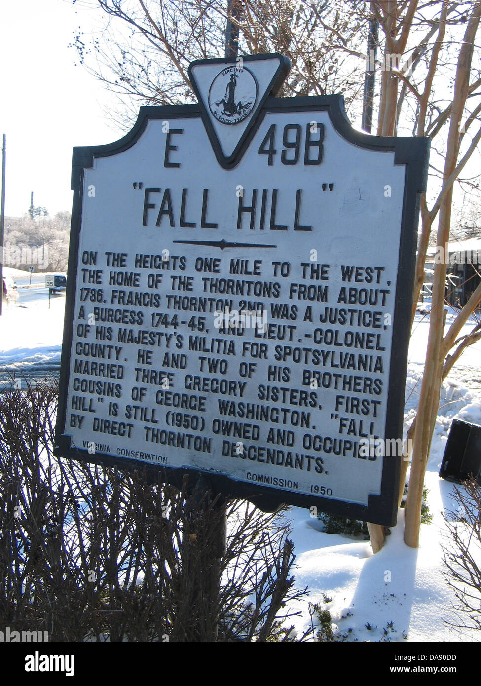 FALL HILL On the heights one mile to the west, the home of
