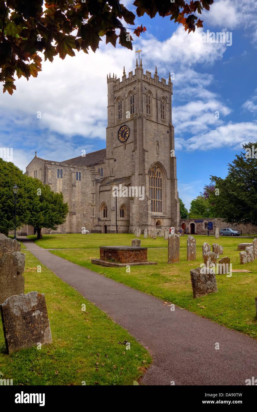 Christchurch Priory, Dorset, United Kingdom - Stock Image