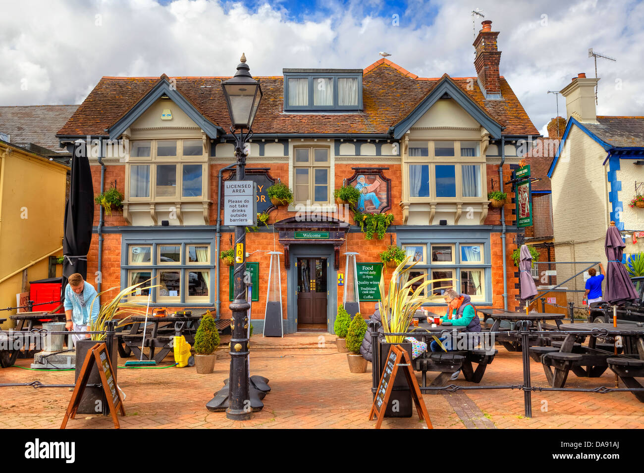 pub on the Poole Quay, Dorset, United Kingdom - Stock Image