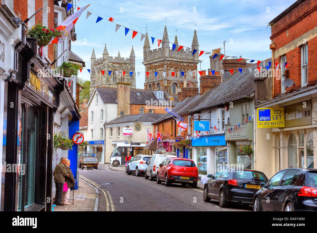 Wimborne Minster, Dorset, United Kingdom - Stock Image