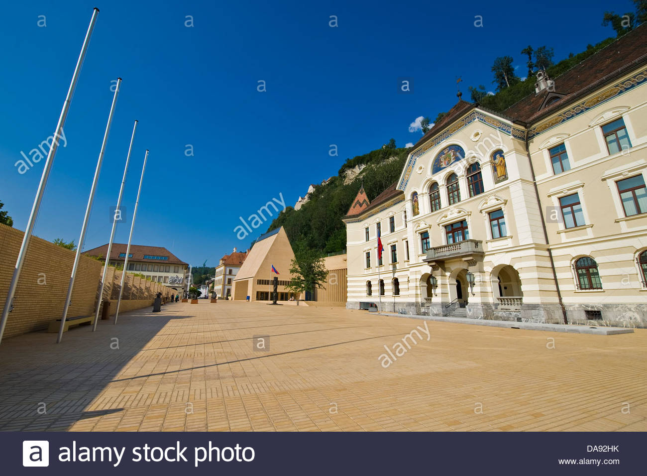 Liechtenstein,Vaduz,Government house - Stock Image